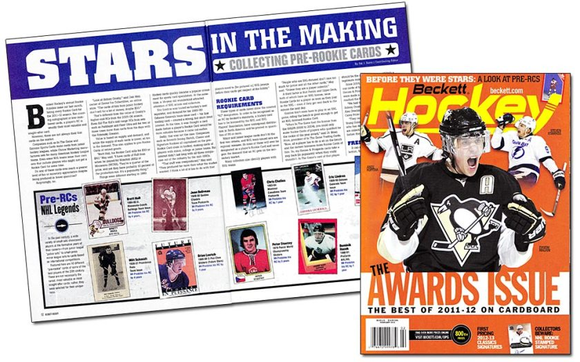 My Pre-RC Article in Beckett Hockey #246