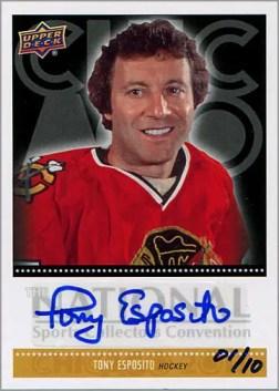 2011 National Tony Esposito autograph