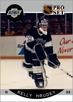 1990-91 Pro Set Kelly Hrudey Custom Card