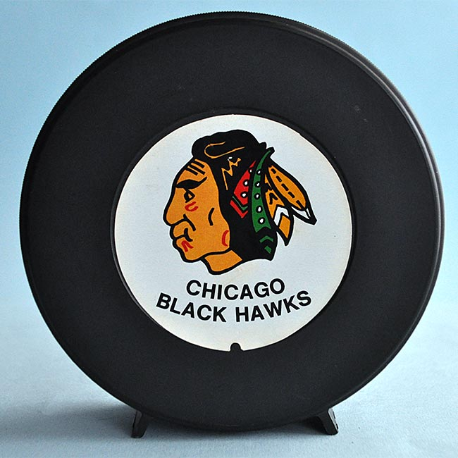Chicago Blackhawks Puck Coin Bank