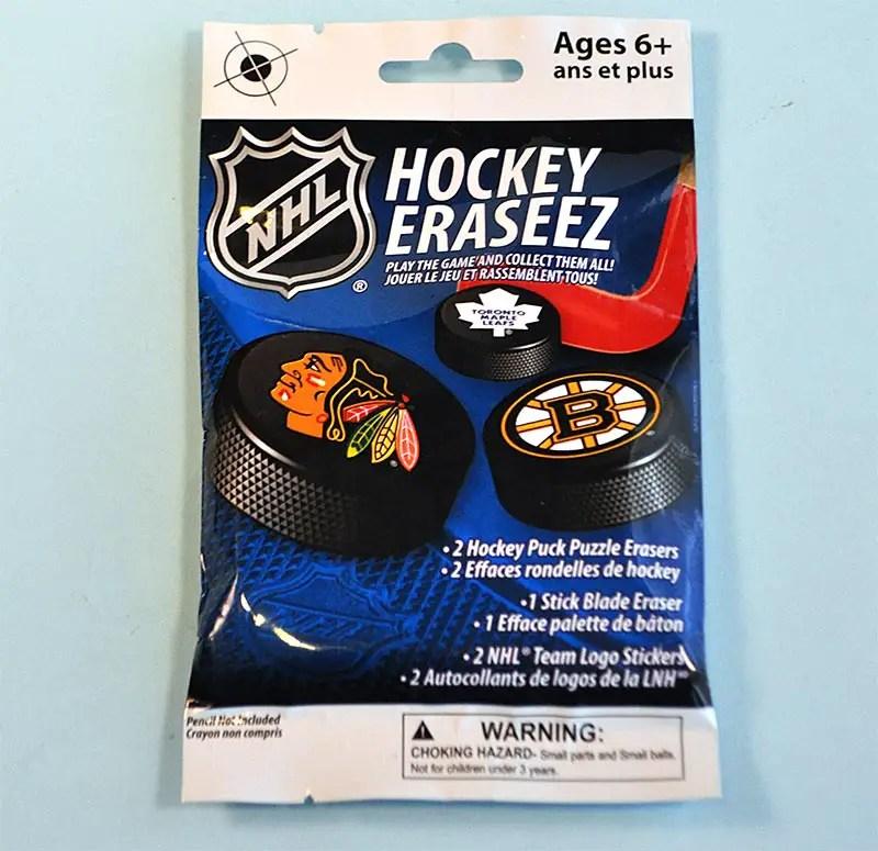 Pack Break x 6: Eraseez Collectible Hockey Eraser Game
