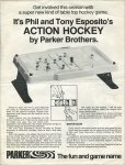 Phil and Tony Esposito's Action Hockey Tabletop Game Print Ad & Commercial