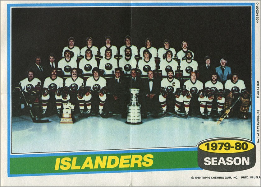 1980-81 Topps Team Pin-Up Posters #1 - New York Islanders