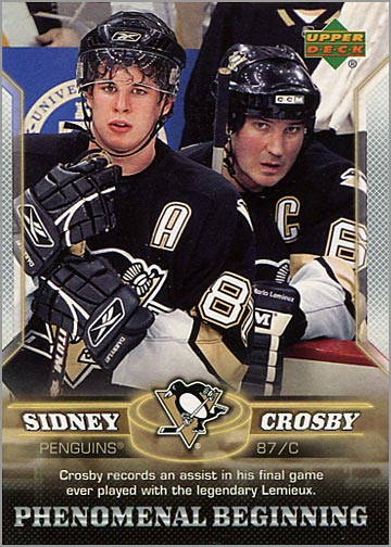 2005-06 Phenomenal Beginnings #14 - Crosby & Lemieux
