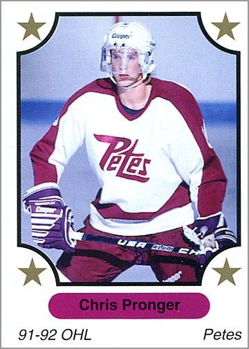 1991-92 7th Inning Sketch OHL #134 - Chris Pronger