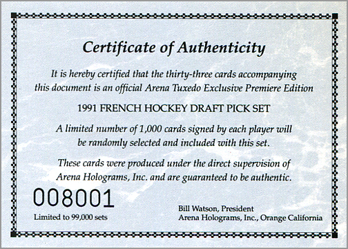 1991_Arena_Certificate