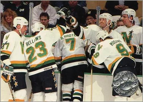 #143 - Minnesota North Stars, Platinum Performance (view back)