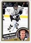 Justin Bieber Custom Hockey Cards