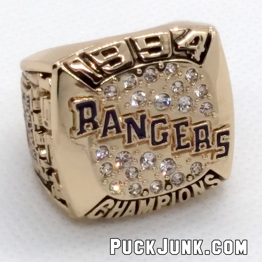 1994 New York Rangers Stanley Cup Championship Replica Ring