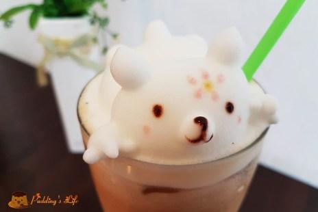 【新竹下午茶】在杯子裡泡泡浴的療癒拉花《羅塔仕咖啡》萌萌造型融化少女心