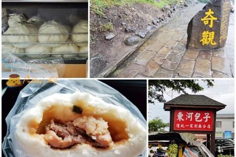【台東美食】東河-再遠也要去吃的人氣肉包《東河包子》水往上流奇觀