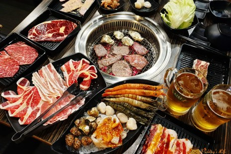 【新竹美食】好客海鮮炭火燒肉吃喝到飽《好客燒烤》火車站對面晶品城餐廳