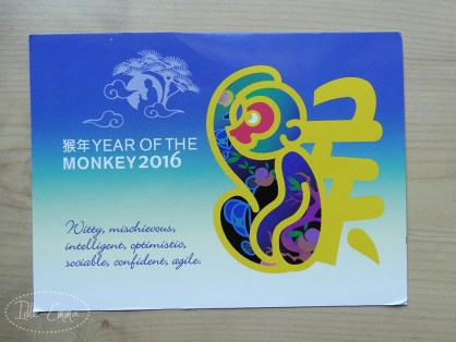 Photo - June 2016 - Incoming - Postrossing Monkey Card