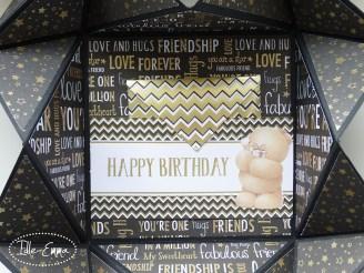 Photo - Black and Gold Napkin Fold Card (2)