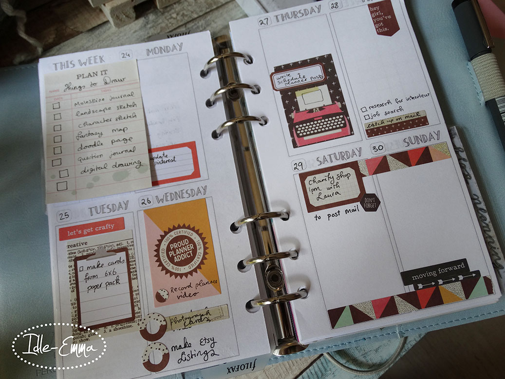 Personal Planner Weekly Spreads