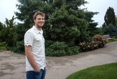 John in the Dwarf Conifer Garden