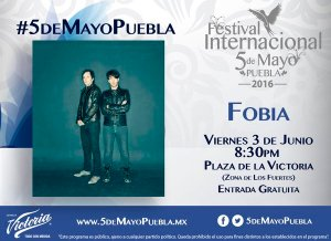 Fobia en concierto en Puebla