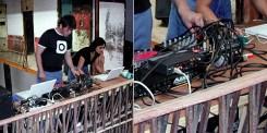Djef & Alisu in Mapache live-act.