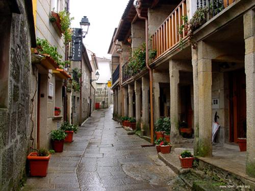 Combarro en la provincia de Pontevedra, Galicia