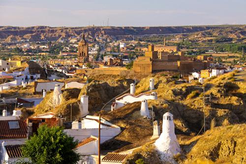 Guadix en Granada, Andalucía
