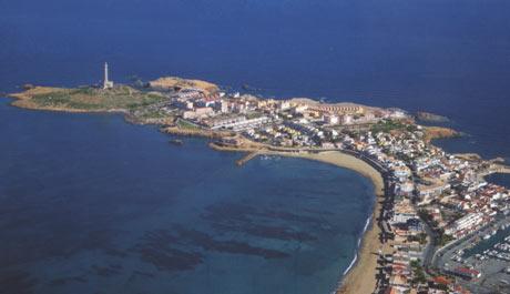 Cabo de Palos en la Manga del Mar Menor