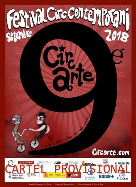 Cartel de 9º Festival de Circo Contemporáneo CIRCARTE 2018