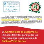 El Ayuntamiento de Casasimarro inicia los trámites para frenar las macrogranjas tras la petición de Pueblos Vivos Cuenca