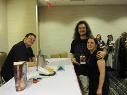 Me & Wervyn meeting Brandon Sanderson