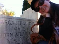 Me at Margaret Mitchell's grave
