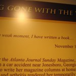 "Margaret Mitchell quote ""In a weak moment, I have written a book."""