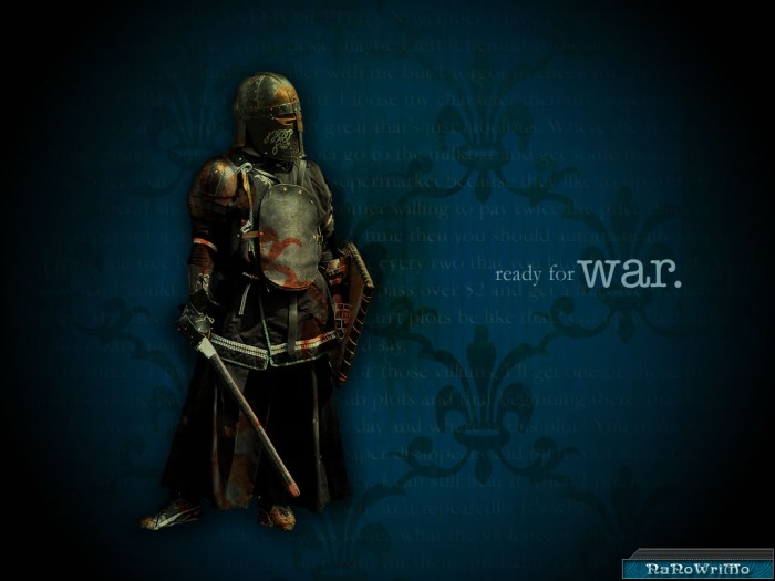 Medieval knight National Novel Writing Month wallpaper