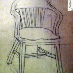 Chair still life drawing