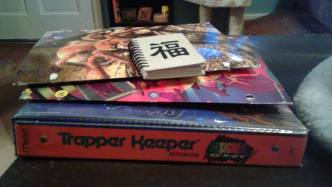 My editing Trapper Keeper and folders of old notes