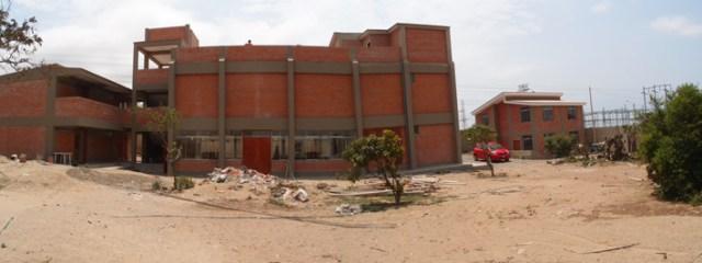 Bau des Zentrums panorama