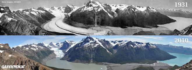 Retroceso de glaciares