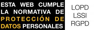 Esta web cumple la Normativa de Protección de Datos Personales