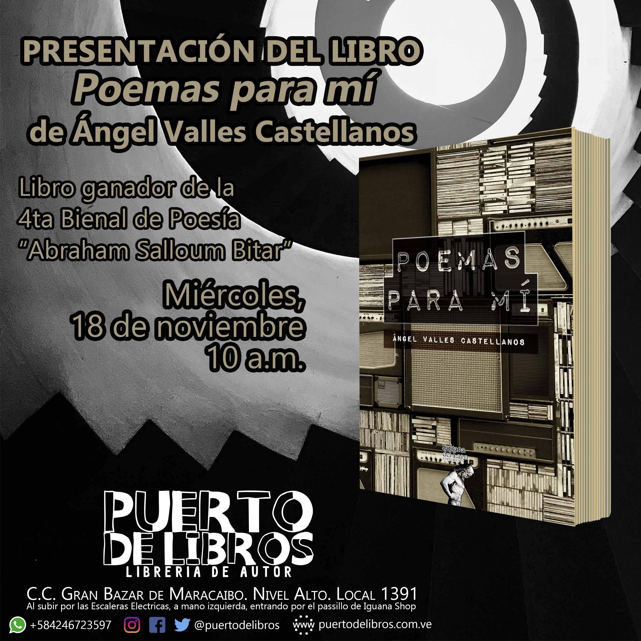 Presentación «Poemas para mí» de Ángel Valles Castellanos