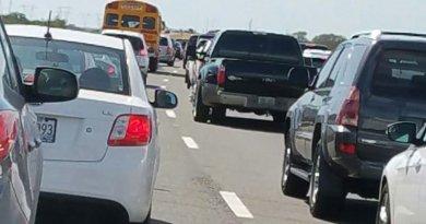 Congestión en la PR-10 en Ponce por choque vehicular