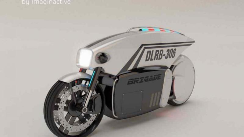 moto dron policia imaginactive bombardier 1