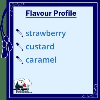 Dinner Lady Strawberry Custard eLiquid - Flavour Profile
