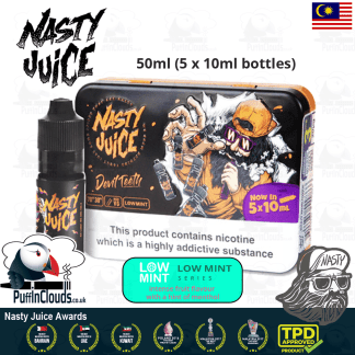 Nasty Juice Devil Teeth E-Liquid (Low Mint) - Honeydew Melon eJuice with just a hint of mint