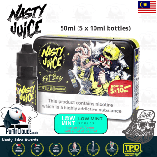Nasty Juice Fat Boy E-Liquid (Low Mint) - Mango eJuice with just a hint of mint