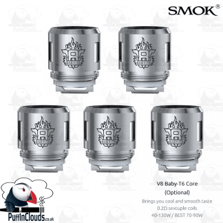 SMOK V8 Baby T6 Coils (5 Pack) - Puffin Clouds UK