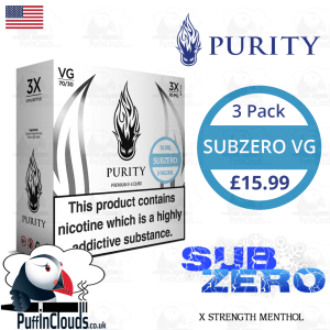 Purity SubZero High VG E-Liquid | Puffin Clouds UK