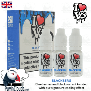 I Love VG Blackberg E-Liquid | Puffin Clouds UK