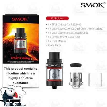 SMOK TFV8 X-Baby Tank - | Puffin Clouds UK