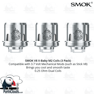 SMOK V8 X-Baby M2 Coils (3 Pack) | Puffin Clouds UK
