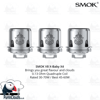 SMOK V8 X-Baby X4 Coils (3 Pack) | Puffin Clouds UK