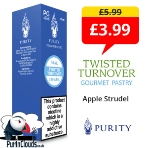 Purity Twisted Turnover E-Liquid Special Offer | Puffin Clouds UK