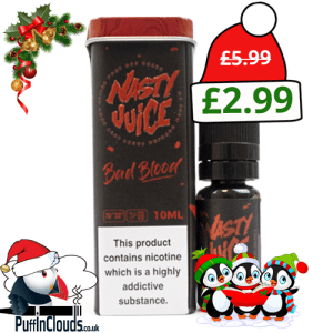 Nasty Juice Bad Blood E-Liquid | Puffin Clouds UK
